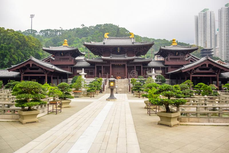 Chi Lin Nunnery in Diamond Hill, Hong Kong stock afbeelding