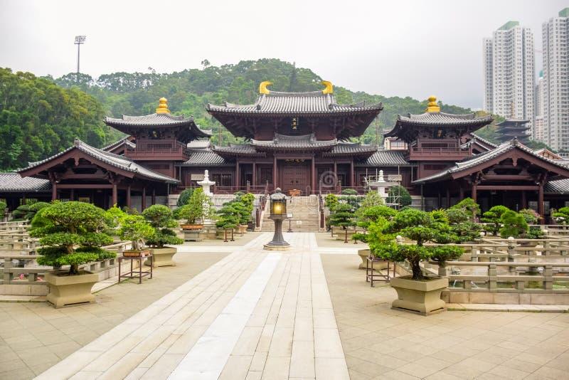 Chi Lin Nunnery en Diamond Hill, Hong Kong image stock