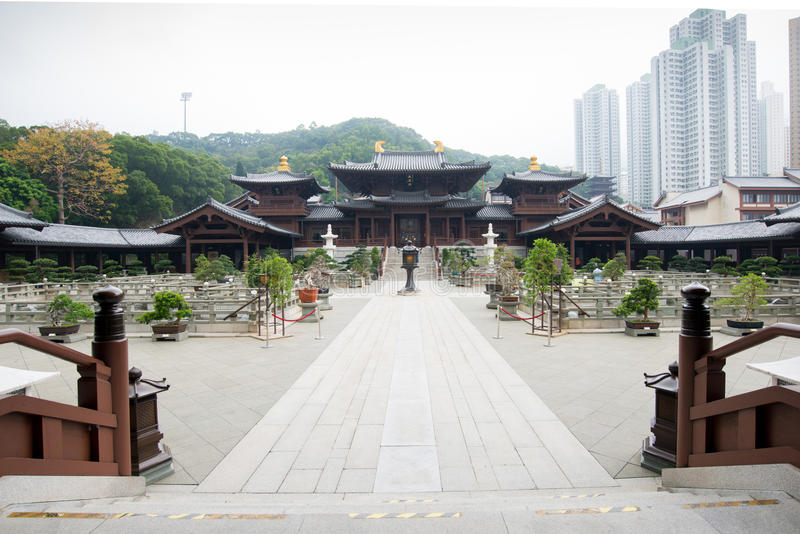 Chi Lin Nunnery, Hong Kong, China royalty-vrije stock afbeeldingen