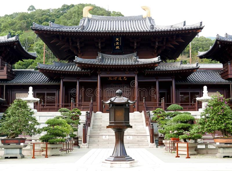 Chi Lin Nunnery in Hong Kong. Chi Lin Nunnery overview in Hong Kong China. It is a large Buddhist temple complex located in Diamond Hill, Kowloon, Hong Kong. It stock image