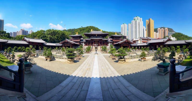 Chi lin Nunnery, Tang dynasty style temple, Hong Kong, China.  stock image