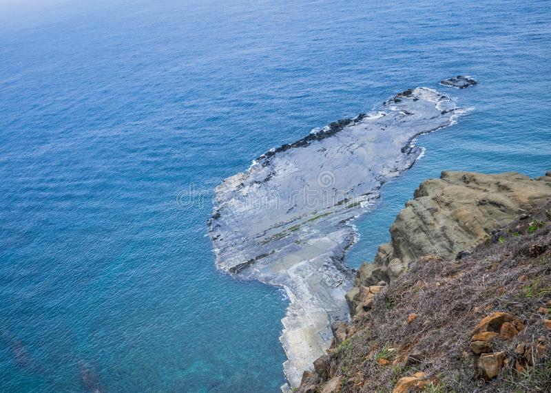 Chi-mei Island is Offshore Islands of Taiwan in penghu. There is a scenery `little Taiwan`. In chi-mei island stock images