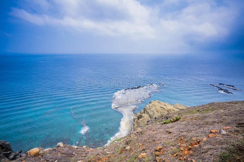 Chi-mei Island is Offshore Islands of Taiwan in penghu. There is a scenery `little Taiwan`. In chi-mei island royalty free stock photos