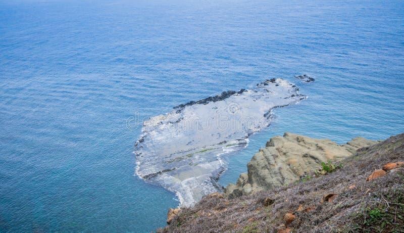 Chi-mei Island is Offshore Islands of Taiwan in penghu. There is a scenery `little Taiwan`. In chi-mei island stock photo