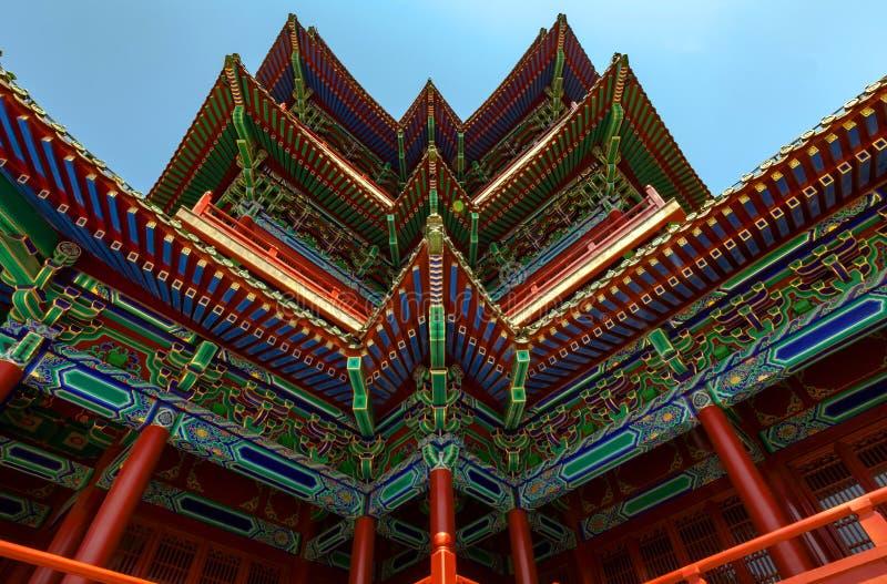 Download Chińska architektura zdjęcie stock. Obraz złożonej z perspektywa - 57650052