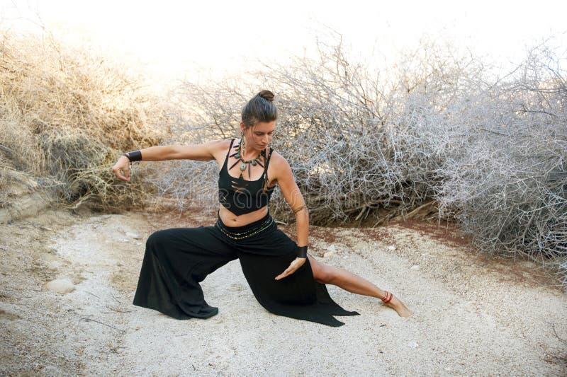 chi som öva tai-kvinnan arkivbild