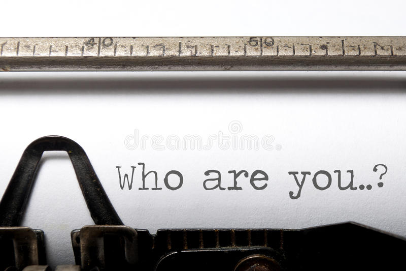 Chi sono voi? fotografia stock libera da diritti
