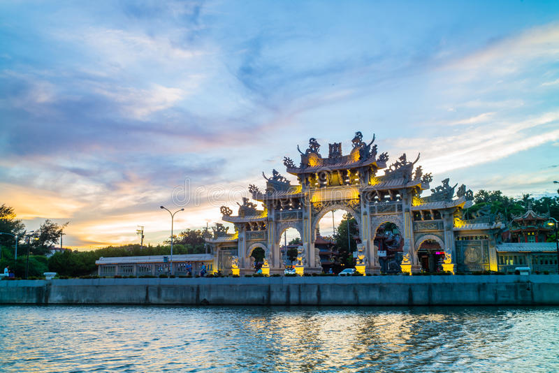 Chi he temple in hsinchu, taiwan royalty free stock photo