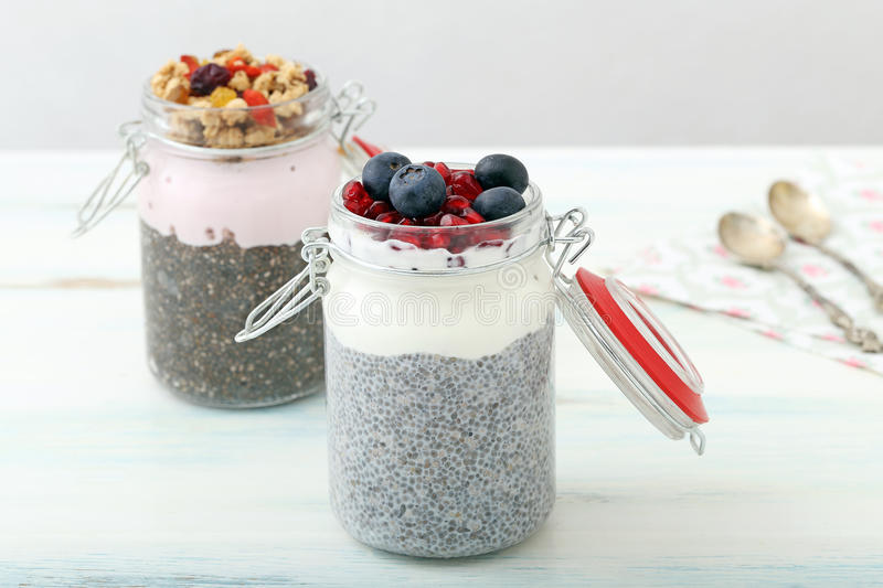 Chia Pudding royalty-vrije stock foto
