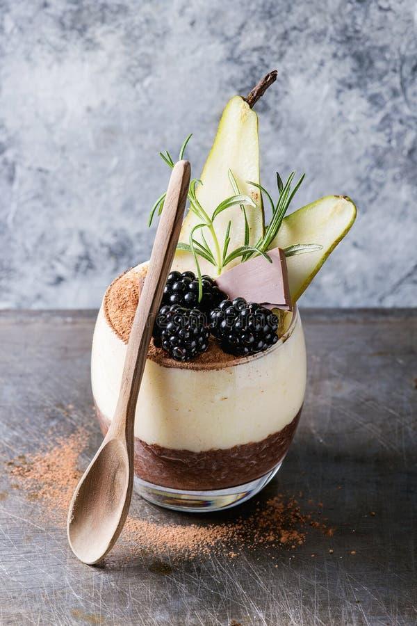 Free Chia Pudding With Rice Porridge Royalty Free Stock Photo - 92660275