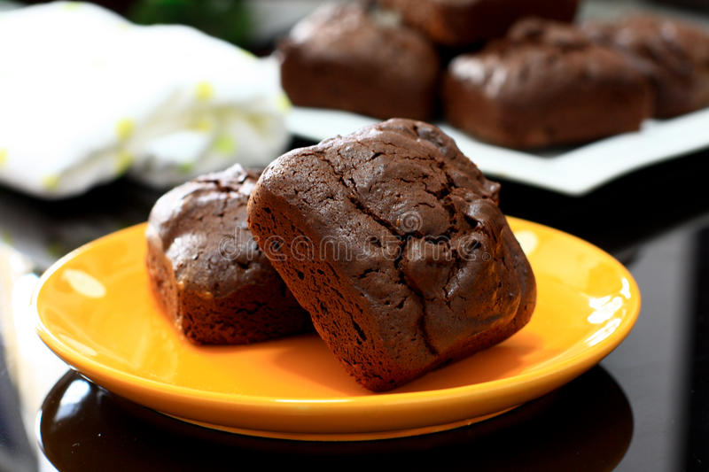 Chia Seed Brownies images libres de droits