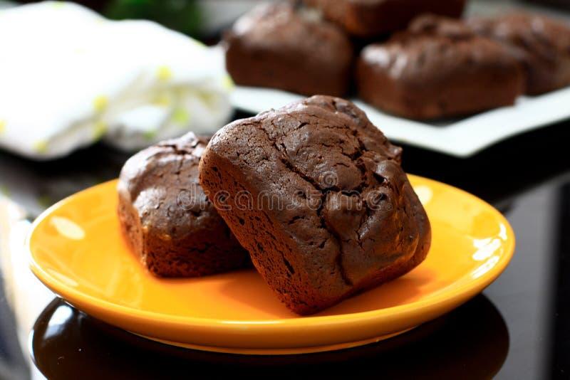 Chia Seed Brownies royaltyfria bilder