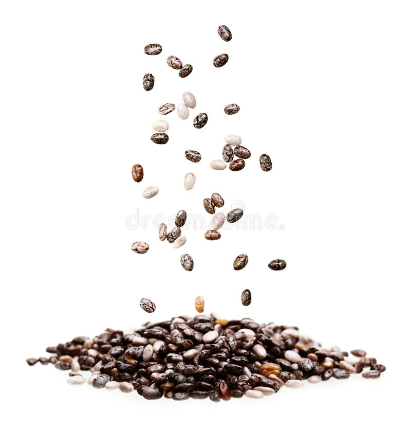 Chia seed isolated. On white background stock photography