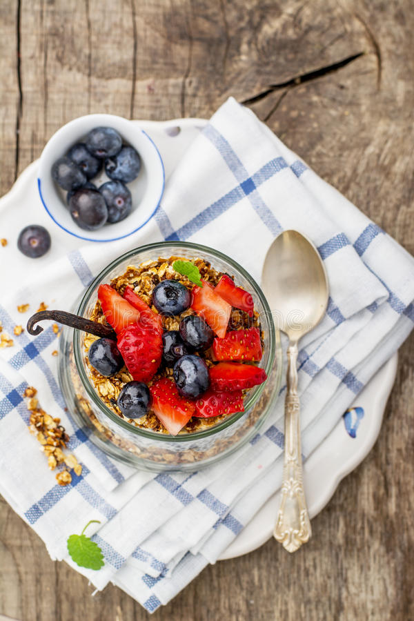 Chia Seed Pudding stockbilder