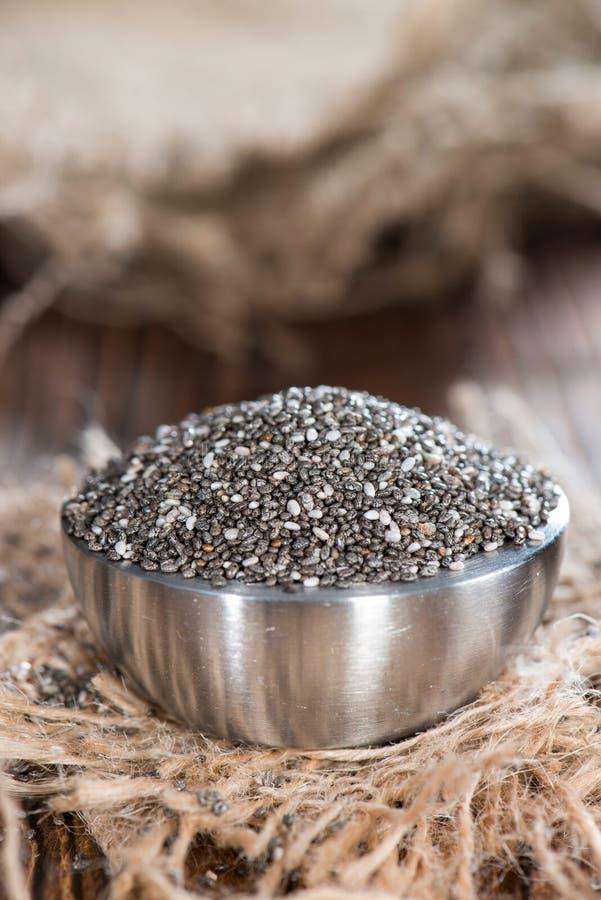 Chia Seeds royaltyfri bild