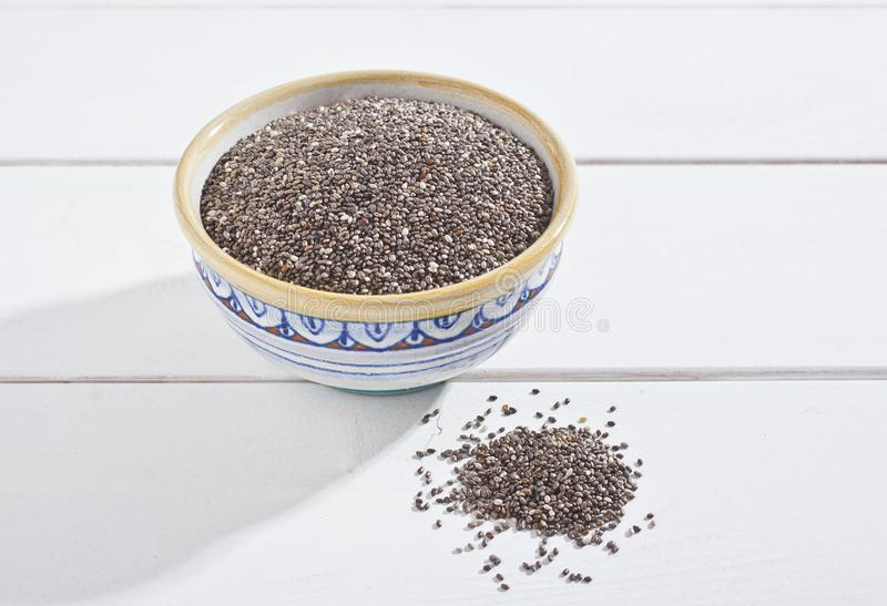 Chia seeds stock photography