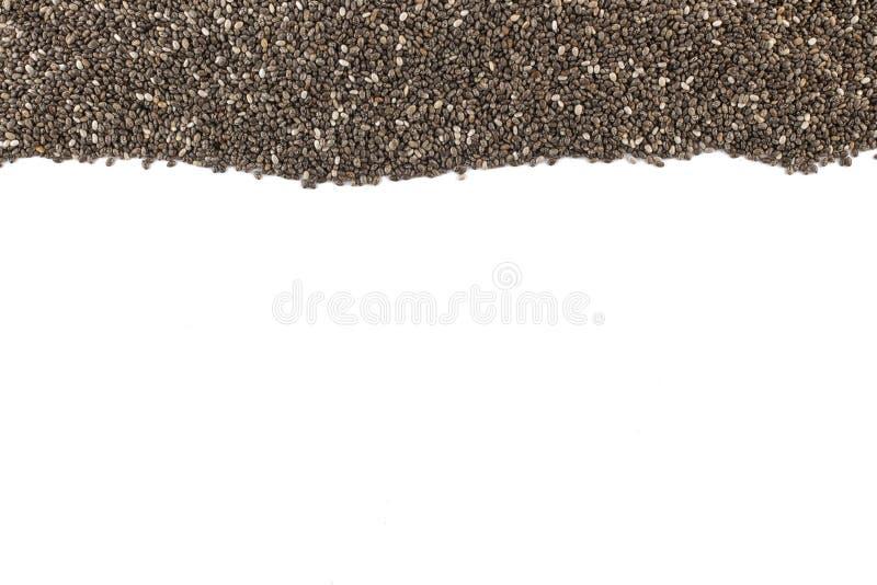 Chia Seeds Frame lizenzfreies stockbild