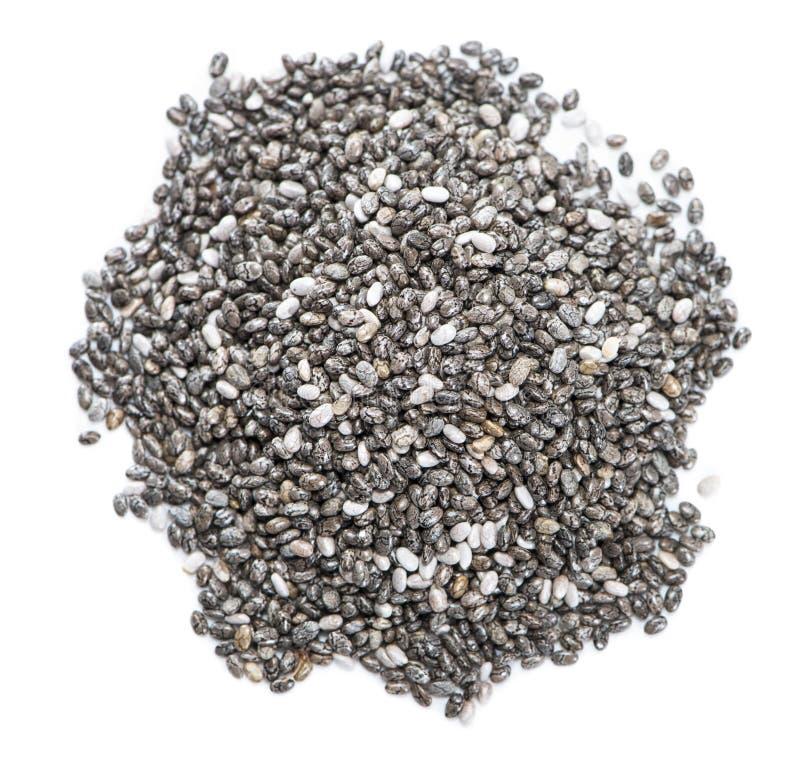 Chia Seeds (op wit wordt geïsoleerd dat) royalty-vrije stock afbeelding