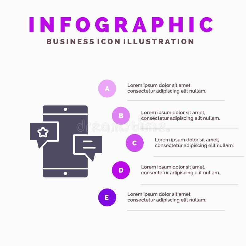 Chiacchierata, Comunità, media, rete, fondo solido di presentazione di punti di Infographics 5 dell'icona di promozione royalty illustrazione gratis