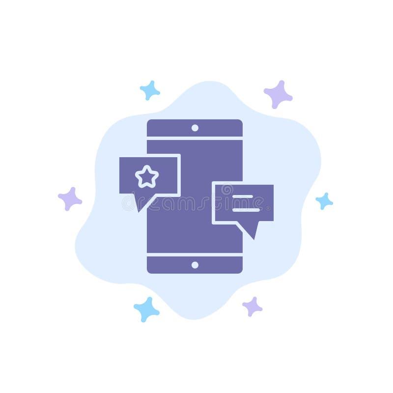 Chiacchierata, Comunità, media, rete, icona blu di promozione sul fondo astratto della nuvola royalty illustrazione gratis