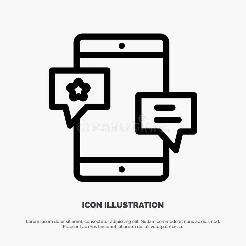 Chiacchierata, Comunità, media, rete, linea vettore di promozione dell'icona illustrazione vettoriale