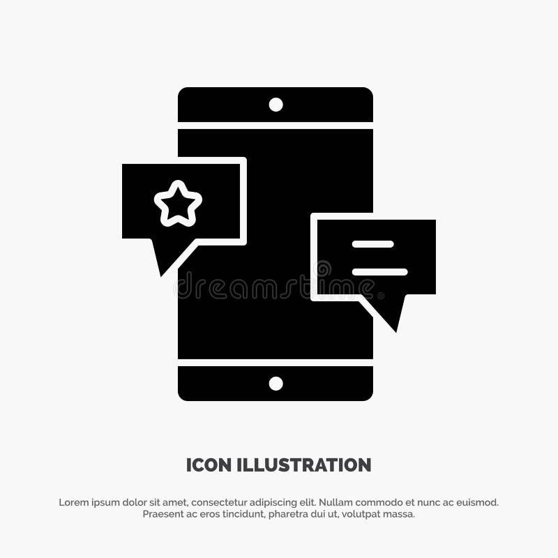 Chiacchierata, Comunità, media, rete, vettore solido dell'icona di glifo di promozione illustrazione di stock