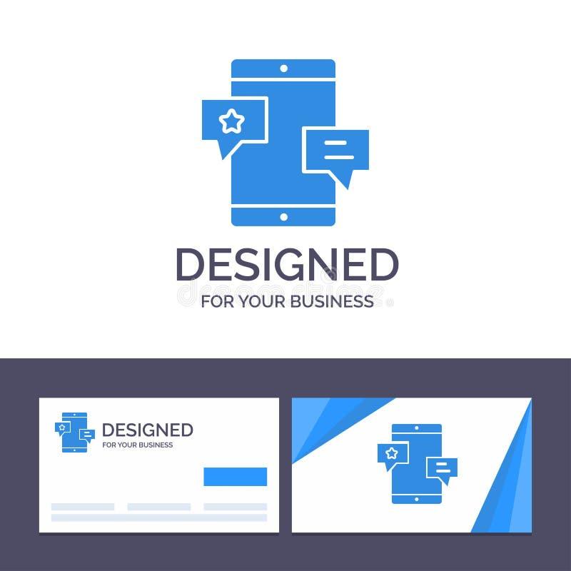 Chiacchierata del modello creativo di logo e del biglietto da visita, Comunità, media, rete, illustrazione di vettore di promozio royalty illustrazione gratis
