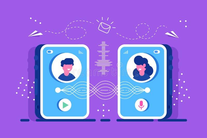 chiacchierata discuta Videochat Istruzione illustrazione vettoriale