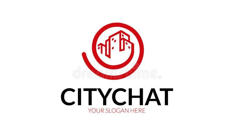 Chiacchierata Logo Template della città illustrazione di stock