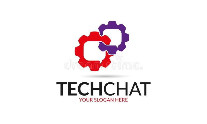 Chiacchierata Logo Template di tecnologia illustrazione di stock