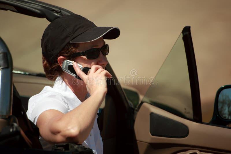 chiacchierata parcheggiata fotografie stock libere da diritti