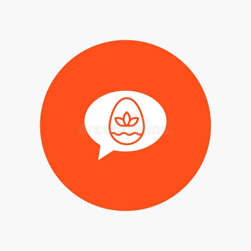 Chiacchierata, uovo, Pasqua, natura illustrazione di stock