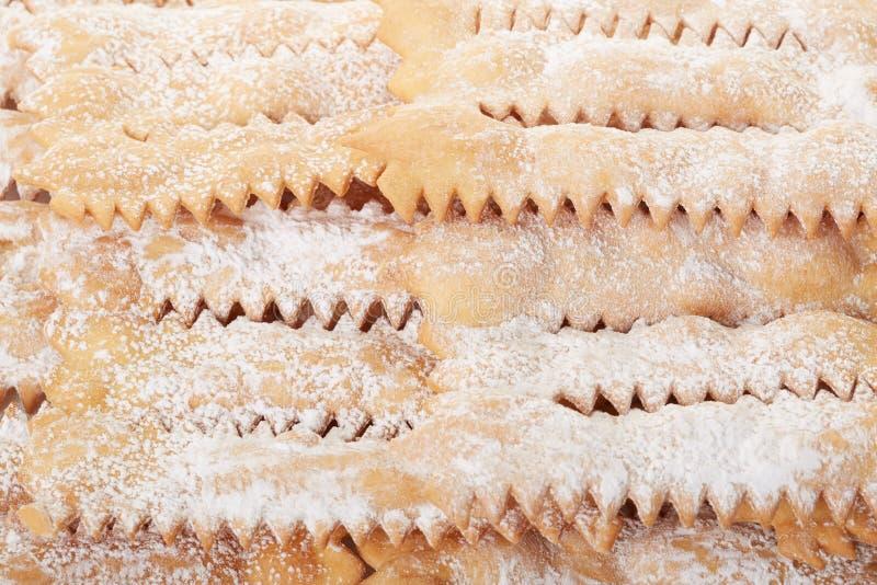 Chiacchiere, итальянская предпосылка масленицы стоковое фото rf