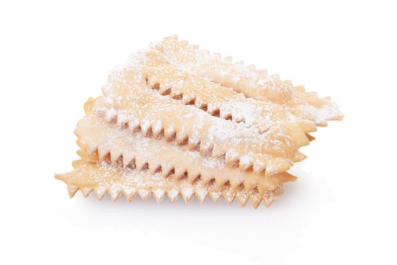 Chiacchiere, итальянское печенье стоковое изображение rf