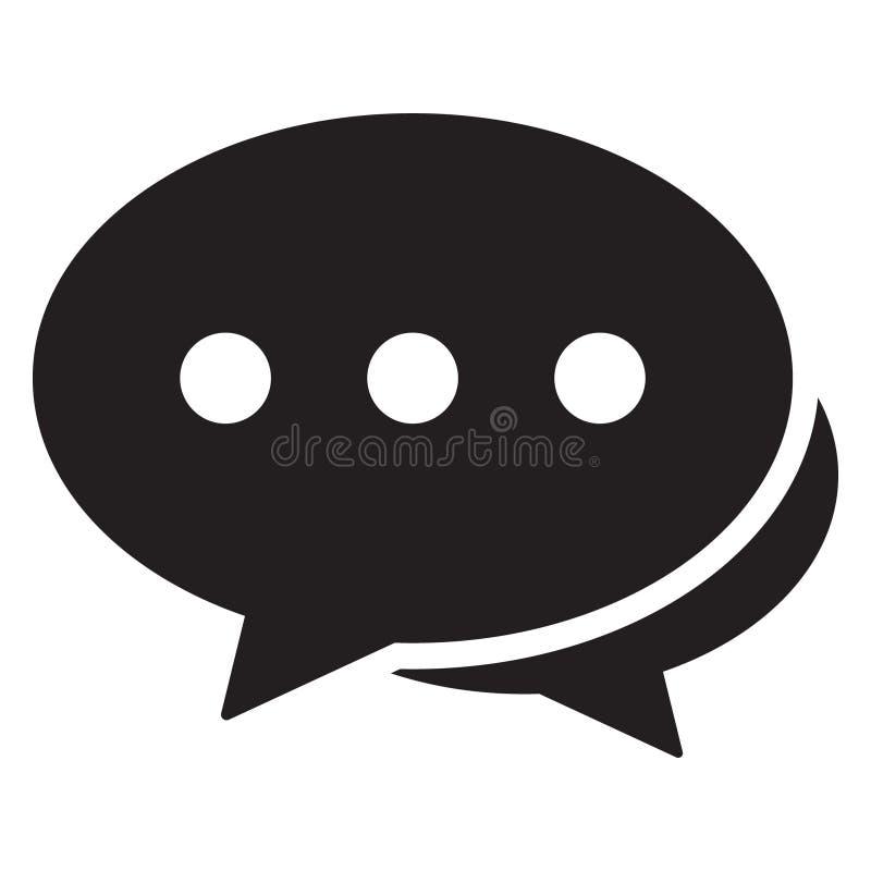 Chiacchieri l'icona, l'icona di dialogo, le osservazioni l'icona, progettazione piana di vettore dell'icona dei fumetti illustrazione di stock