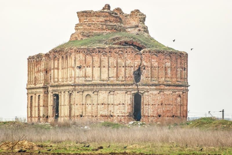 Chiajna修道院,罗马尼亚的废墟 库存图片