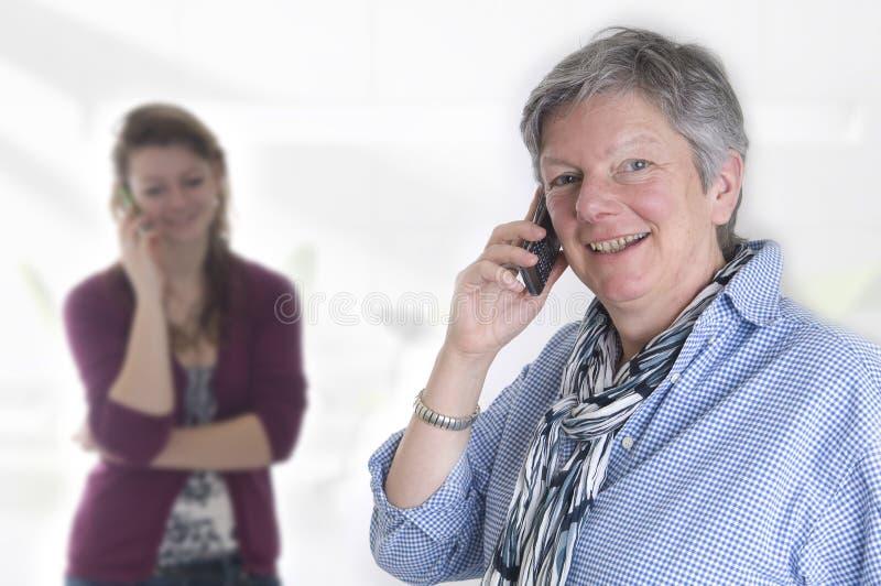 Chiamando dal telefono immagini stock