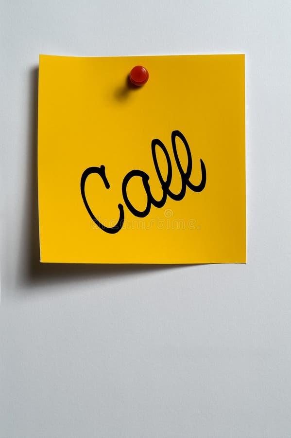 Chiamata immagine stock