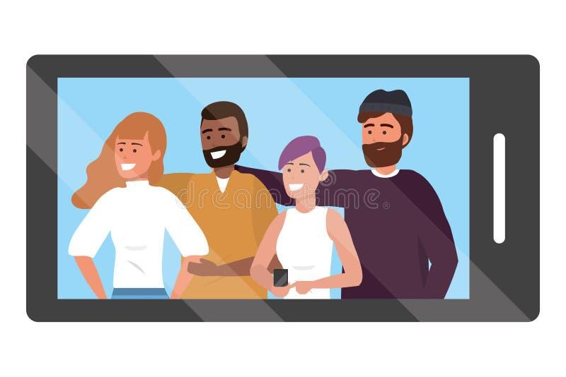 Chiamata del app di Smartphone video royalty illustrazione gratis