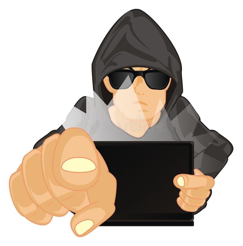 Chiamata del pirata informatico a voi royalty illustrazione gratis
