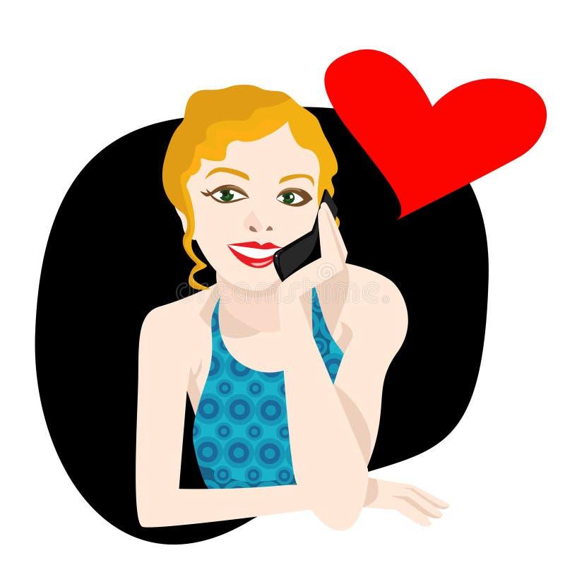 Chiamata di amore illustrazione vettoriale