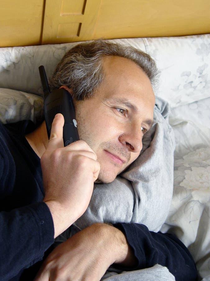 Chiamata di ora di andare a letto immagine stock