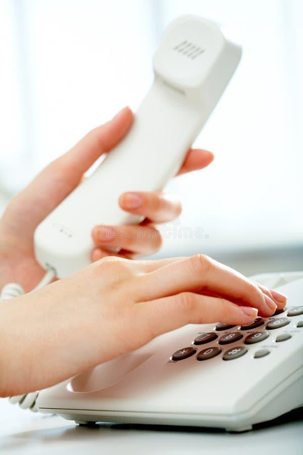 Chiamata di telefono fotografie stock libere da diritti
