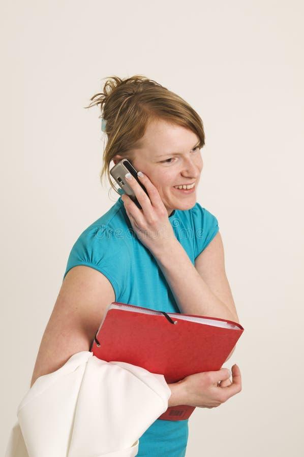 Chiamata di telefono affrettata fotografie stock libere da diritti
