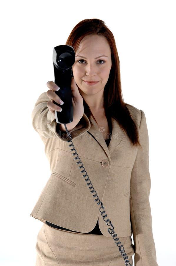 Chiamata di telefono dell'uomo d'affari fotografia stock