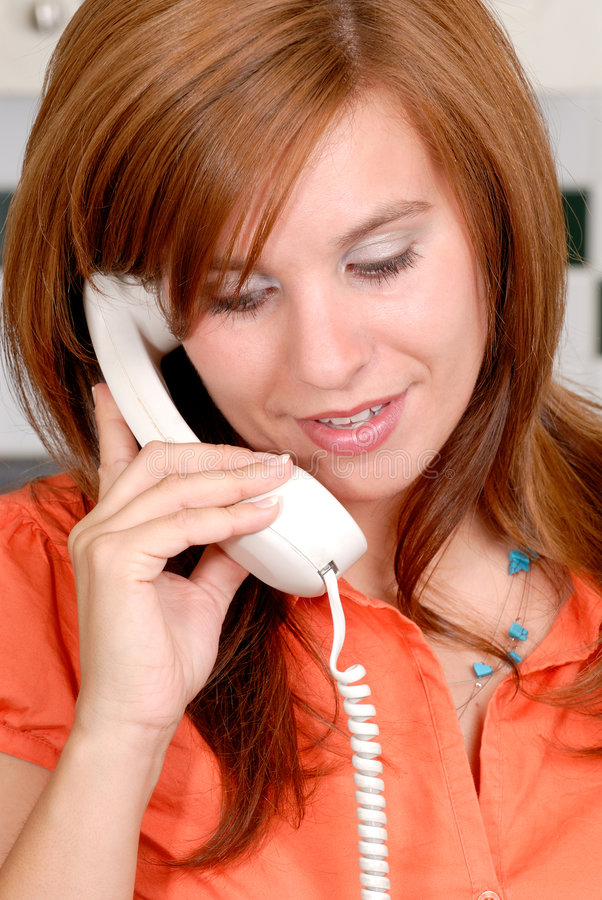 Chiamata di telefono di sorpresa immagini stock libere da diritti