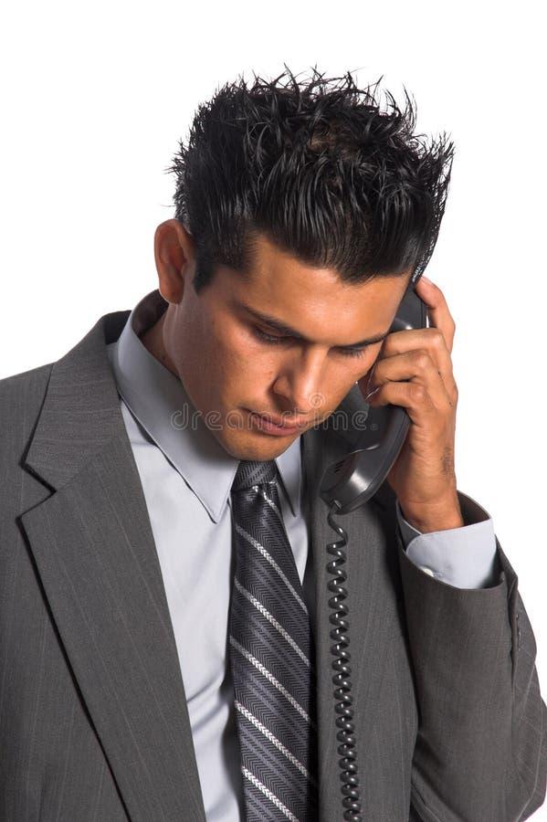 Chiamata di telefono esecutiva fotografia stock libera da diritti