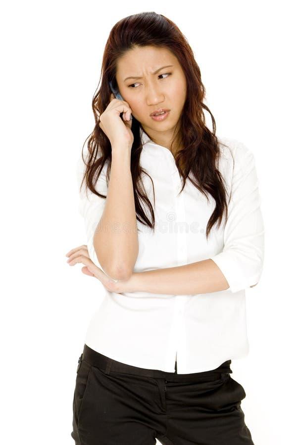 Chiamata di telefono interessata fotografia stock libera da diritti