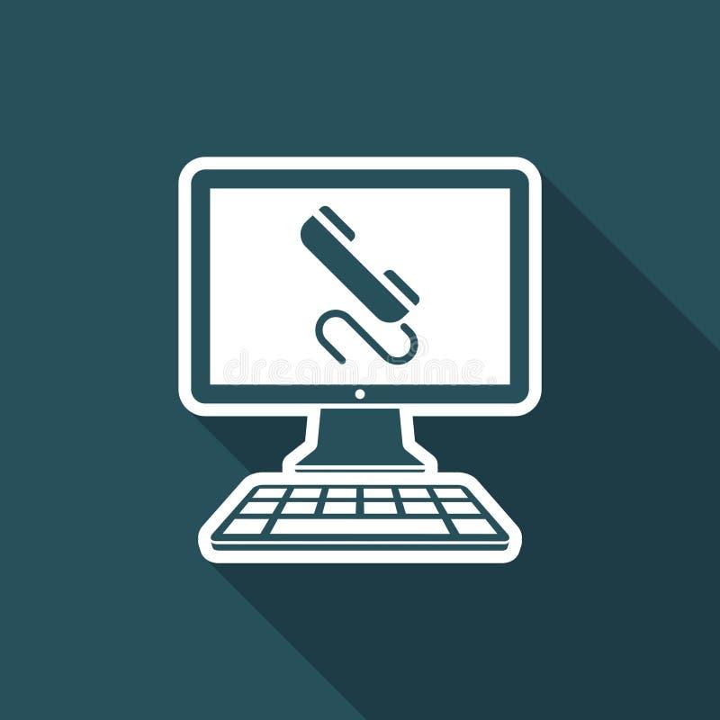 Chiamata - icona di vettore del sito Web royalty illustrazione gratis