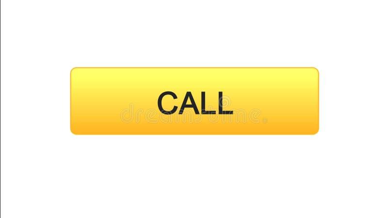 Chiami il bottone dell'interfaccia di web colore arancio, l'assistenza del consulente, supporto tecnico illustrazione vettoriale